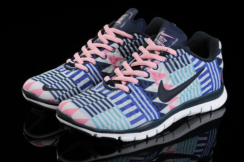 New Nike Free Run 5.0 Trainer Blue Pink Black