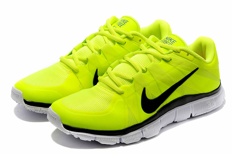 New Nike Free 5.0 Yellow White Shoes
