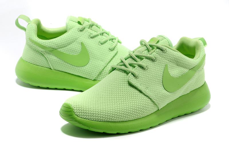 New Nike Roshe Run Apple Green Shoes For Women