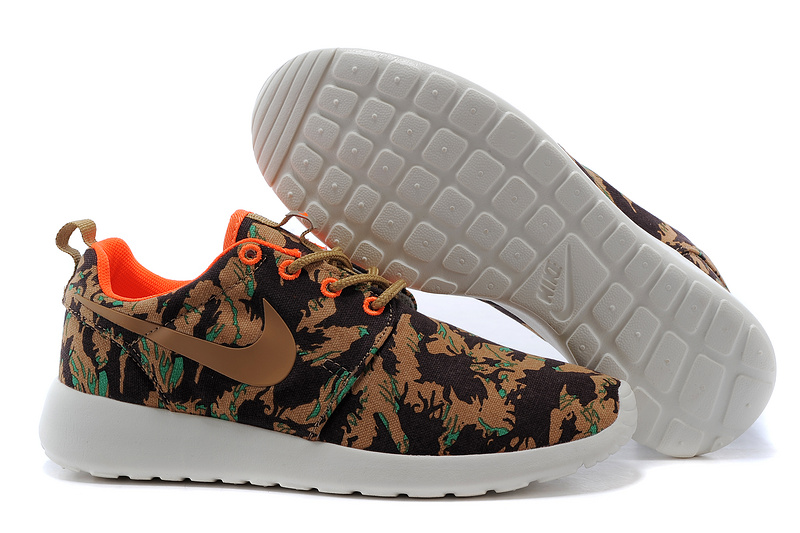 New Nike Roshe Run Brown Black Print Lovers Shoes