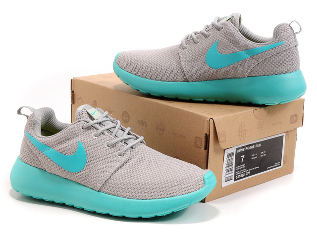 New Nike Roshe Run Green Baby Blue Shoes