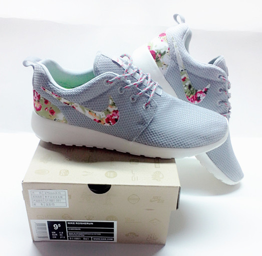 New Nike Roshe Run Light Grey Follow Shoes