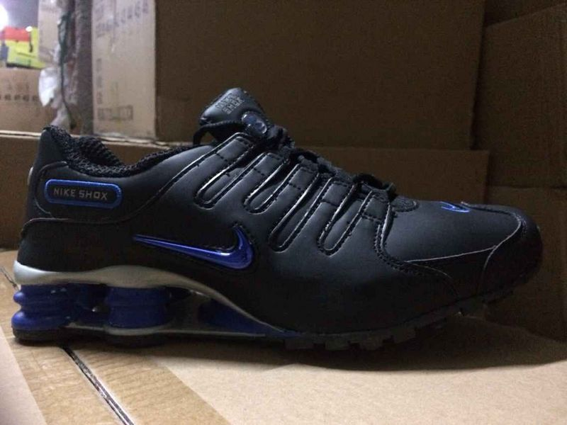 Men's Nike Shox NZ Black Royal Blue Running Shoes