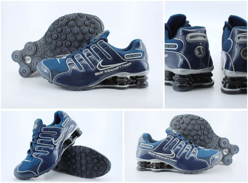 Men's Nike Shox NZ Dark Blue Running Shoes