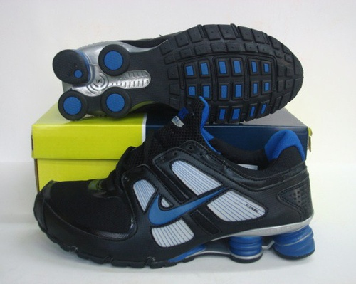 Sportive Nike Shox R5 Black Blue Running Shoes