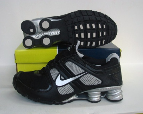 Sportive Nike Shox R5 Black Silver Running Shoes