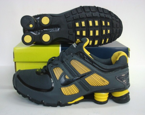 Sportive Nike Shox R5 Black Yellow Running Shoes