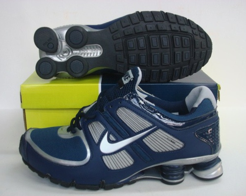Sportive Nike Shox R5 Blue Silver Running Shoes