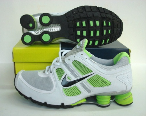 Sportive Nike Shox R5 White Green GreyRunning Shoes