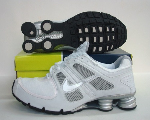 Sportive Nike Shox R5 White Grey Running Shoes