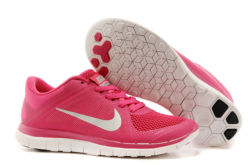 New Women Nike Free 4.0 V4 Red White Running Shoes