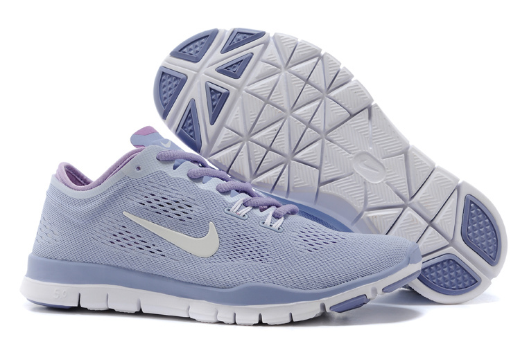 New Women Nike Free Run 5.0 Light Purple White Training Shoes