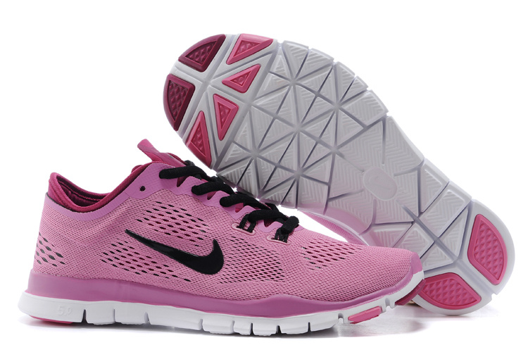 New Women Nike Free Run 5.0 Pink Black Training Shoes
