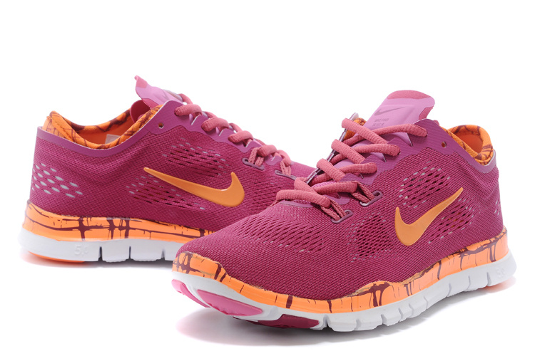 New Women Nike Free Run 5.0 Red Orange Training Shoes