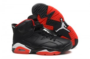Newest Air Jordan 6 VI Black Red White
