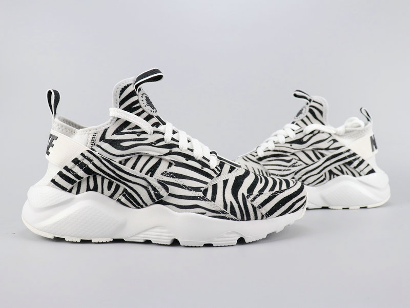 2020 Nike Air Huarach Run Ultra Zebra Print For Women