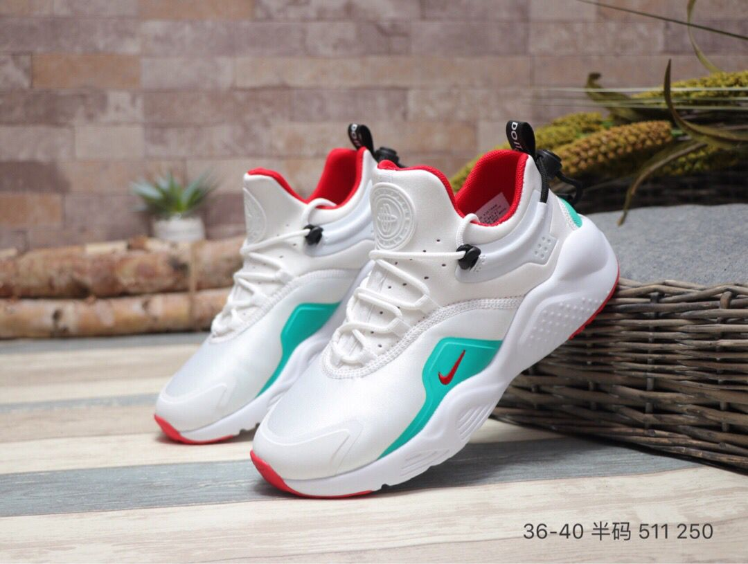 2020 Women Nike Air Huarache VIII All White Blue Red