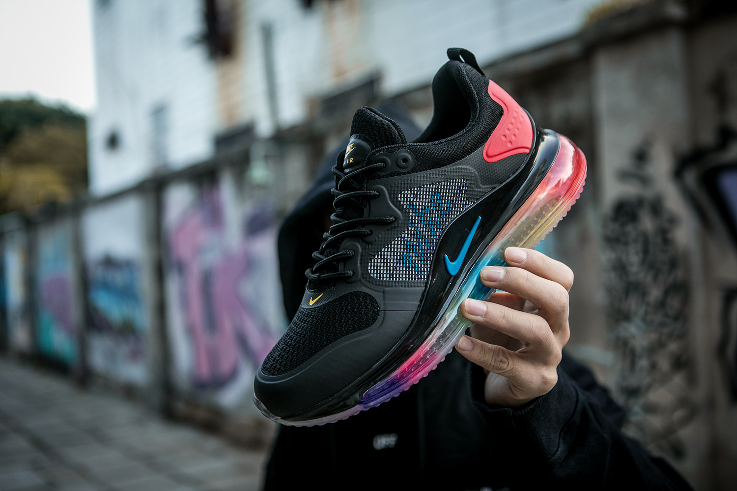 2020 Nike Air Max 720 Black Colorful