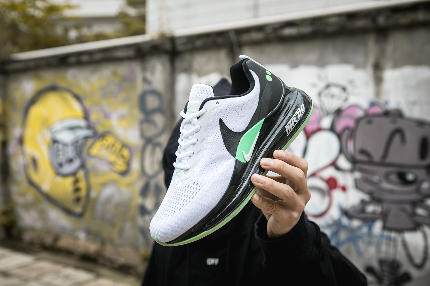 2020 Nike Air Max 720 White Black Green