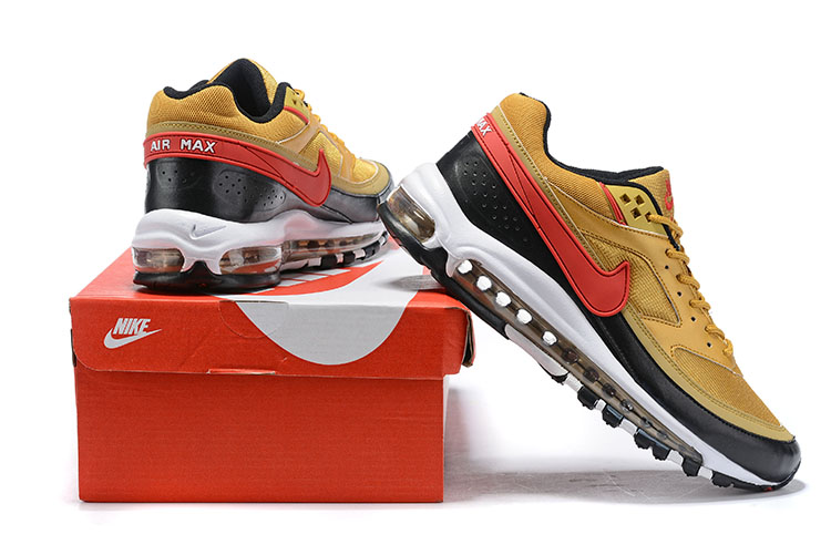 2020 Nike Air Max 97 BW Gold Yellow Black Red