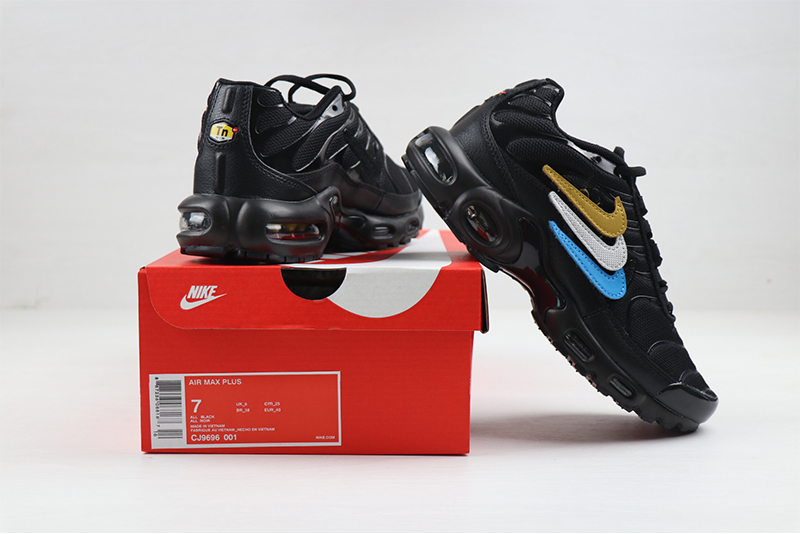 2020 Nike Air Max TN PLUS Black Blue Gold