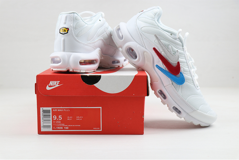 2020 Nike Air Max PLUS White Red Blue