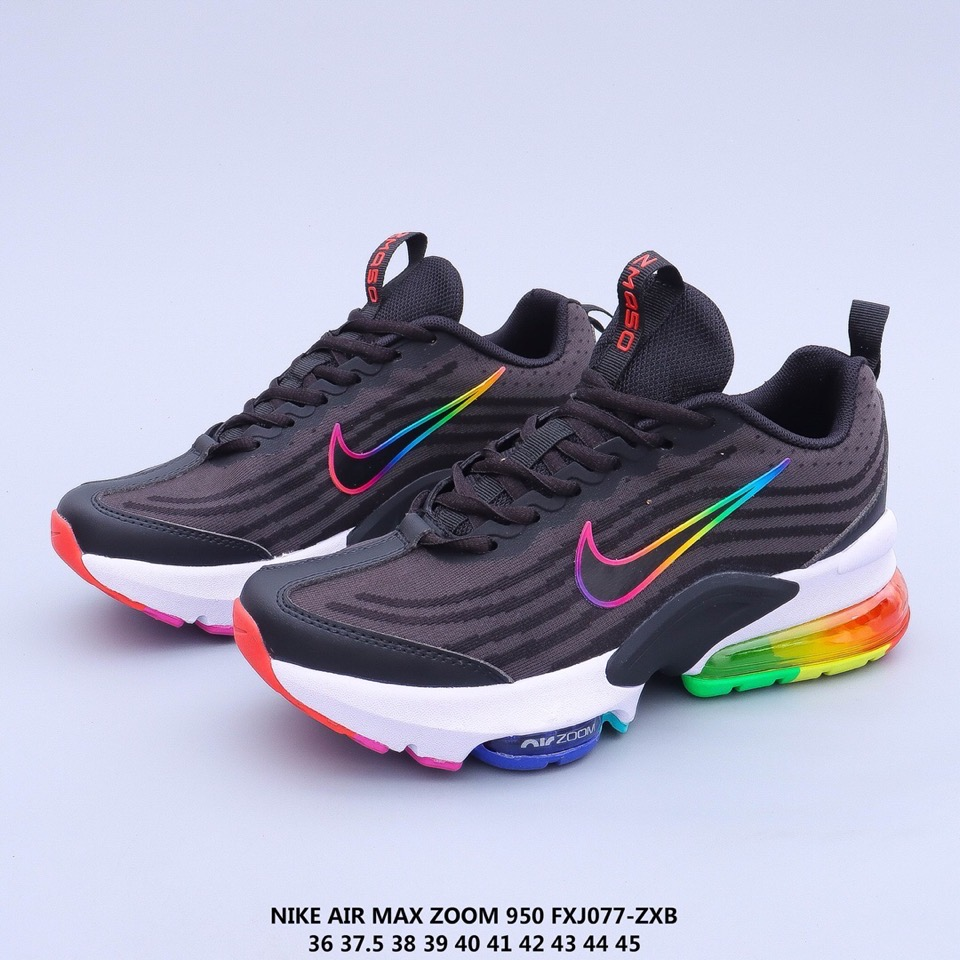 2020 Nike Air Max Zoom 950 Black Rainbow White Shoes For Women