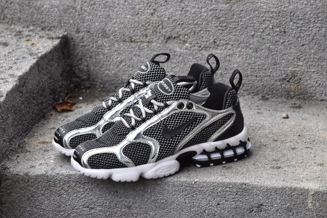 2020 Nike Zoom Spiridon Caged 2 Black Silver For Women