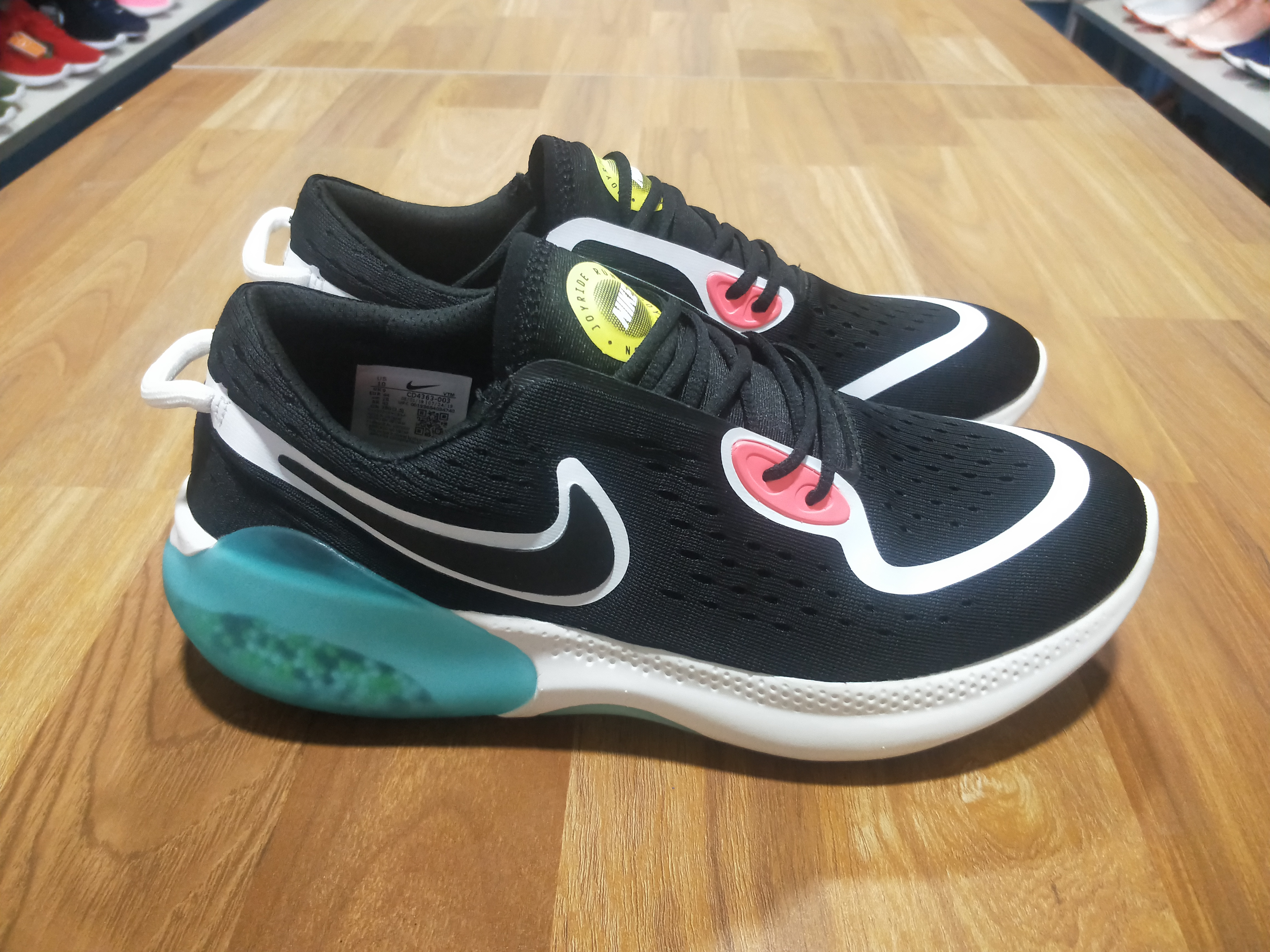 2020 Nike Joyride Run FK Black White Jade For Women