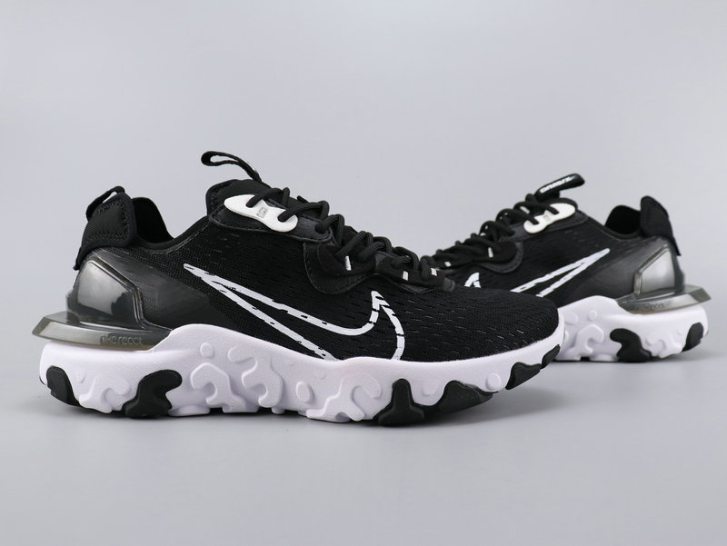 2020 Nike React VISION Black White Running Shoes