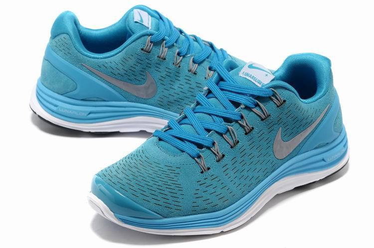 Nike 2013 Moonfall Blue Grey White Running Shoes