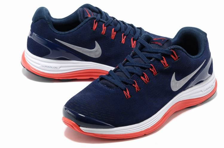 Nike 2013 Moonfall Blue Red White Running Shoes