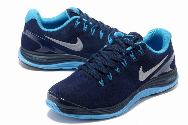 Nike 2013 Moonfall Blue Running Shoes