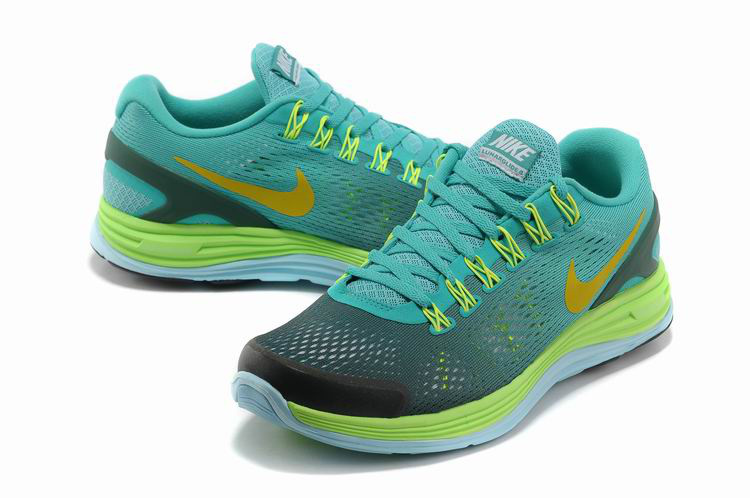 Nike 2013 Moonfall Grenadine Blue Grey Yellow Running Shoes
