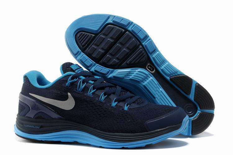 Nike 2013 Moonfall Grenadine Dark Blue Running Shoes