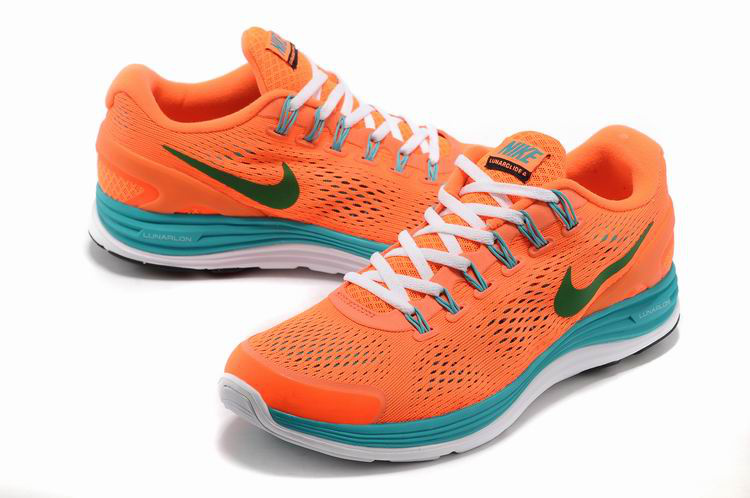 Nike 2013 Moonfall Grenadine Orange Blue White Running Shoes
