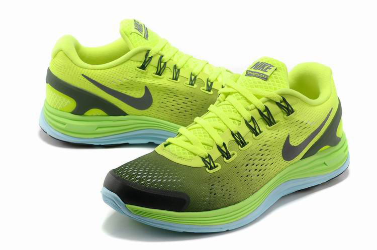 Nike 2013 Moonfall Grenadine Yellow Black Running Shoes
