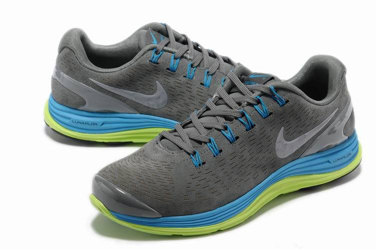 Nike 2013 Moonfall Grey Blue Green Running Shoes