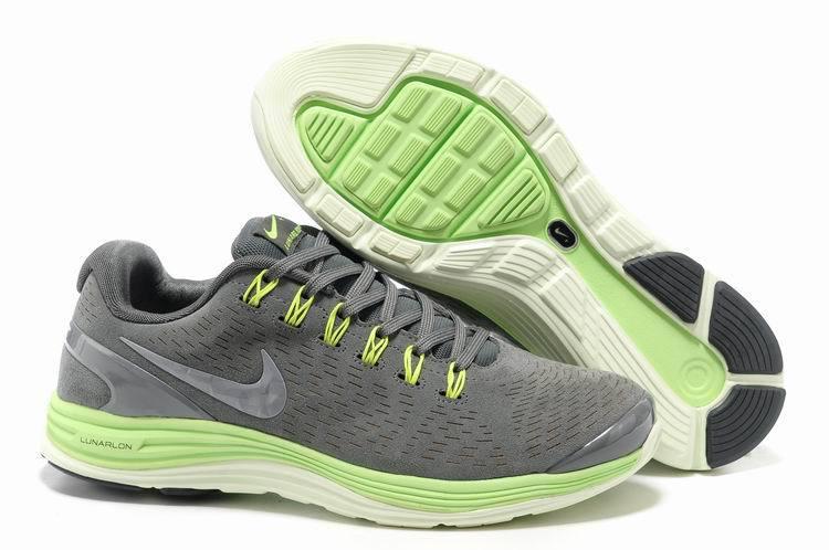 Nike 2013 Moonfall Grey Green White Running Shoes