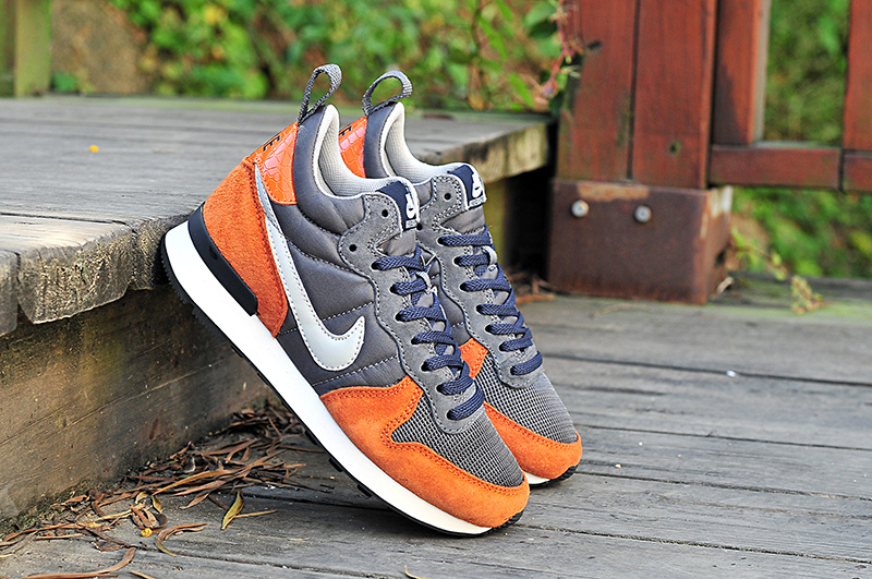 Nike 2015 Archive Grey Orange White Women Shoes