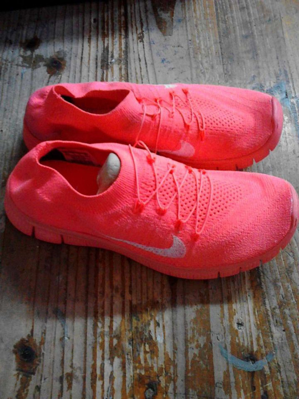 Nike Free Run 5.0 Flyknit rainbow All Red Shoes
