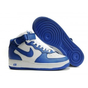 Nike Air Force 1 High Blue White Shoes