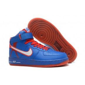 Nike Air Force 1 High Strap Blue Red Shoes