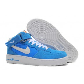 Nike Air Force 1 High Strap Blue White Shoes