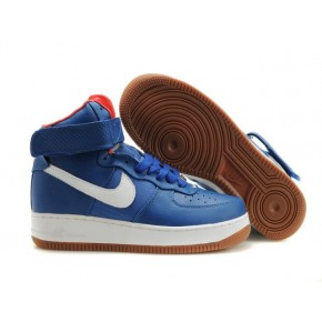 Nike Air Force 1 High Strap Blue White Yellow Shoes