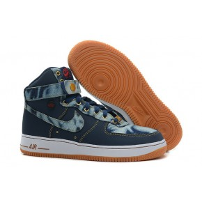 Nike Air Force 1 High Strap Blue Yellow Shoes