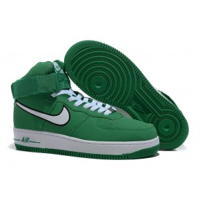 Nike Air Force 1 High Strap Green White Shoes