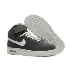 Nike Air Force 1 High Strap Grey White Shoes