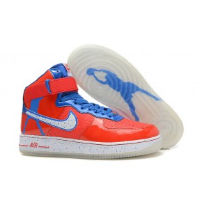 Nike Air Force 1 High Strap Red Blue White Shoes