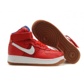 Nike Air Force 1 High Strap Red White Shoes